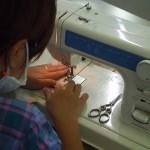 竹炭縫いつけ